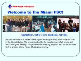 PARENTS EDUCATION SEMINAR - Miami Figure Skating Club, Inc.