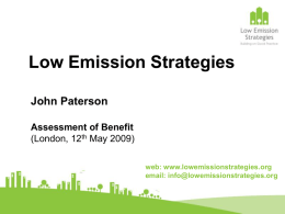 Low Emission Strategies