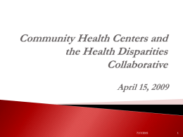Health Disparities Collaboratives