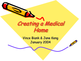 Creating a Medical Home