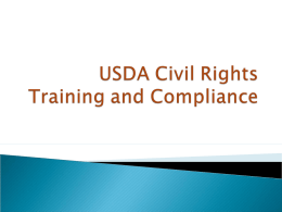 USDA Civil Rights Training and Compliance
