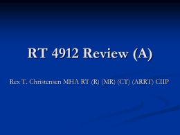 RT 4912 Review - Weber State University