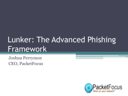 Lunker: The Advanced Phishing Framework