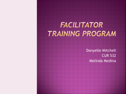 Facilitator Training Program