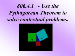 Pythagorean Theorem - Rutherford County Schools