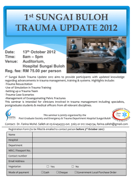 1st SUNGAI BULOH TRAUMA UPDATE 2012