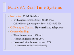 ECE 697: Real-Time Systems