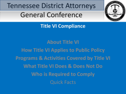 Tennessee District Attorneys General Conference
