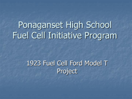 Ponaganset High School Fuel Cell Initiative Program