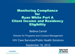 Monitoring Compliance Income and Residency
