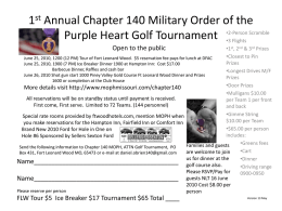 1st Annual Chapter 140 Military Order of the Purple Heart