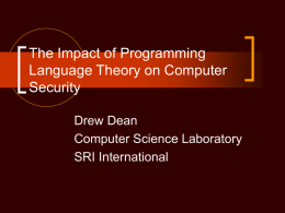 The Impact of Programming Language Theory on Computer …