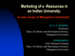 Marketing of e-Resources in an Indian University: