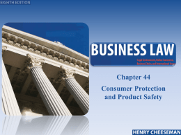 Chapter 045- Consumer Protection
