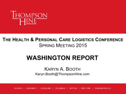 The Health & Personal Care Logistics Conference Fall