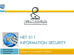NET 311Information Security