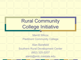 Rural Community College Initiative