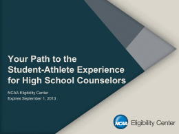 Your Path to the Student-Athlete Experience for High