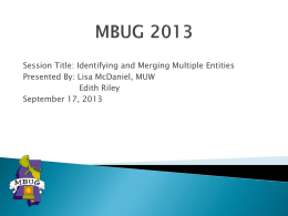 MBUG 2013 - Mississippi Banner Users Group