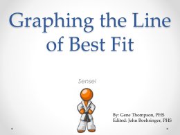 Graphing the Line of Best Fit