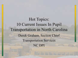 Transportation Update - NC School Bus Safety Web