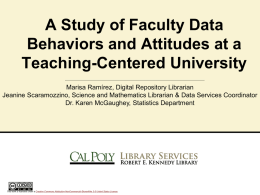 Presentation Title - California Academic & Research Libraries