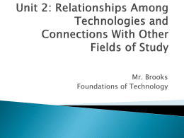 Unit 2: Relationships Among Technologies and Connections