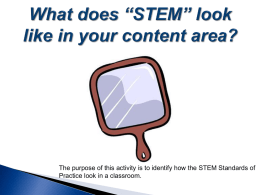 STEM Education includes: