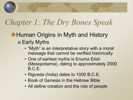 The World's History, 3rd. Ed. 1. The Dry Bones Speak