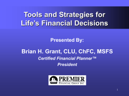 Tools & Strategies for Life's Financial Decisions