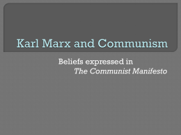Karl Marx and Communism - Ms. Carpenter's English Classes