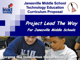 JSD PLTW - Technology education