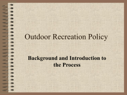 Outdoor Recreation Policy