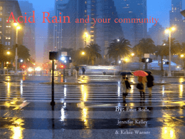 Acid Rain and your community