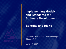 Implementing Models and Standards for Software Development