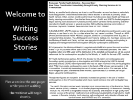 Writing Success Stories Please review the one