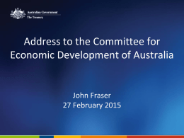 Australia's Economic Policy Challenges, Address to the