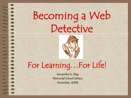 Website Evaluation For Learning, For Life….