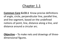 Geometry Ch 1.1 Notes - Illini West High School Dist. 307