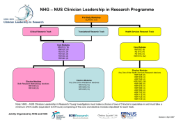 NHG – NUS Clinician Leadership in Research Programme