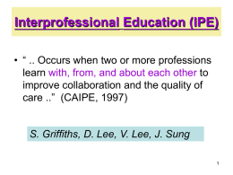 Barriers to Interprofessional Education