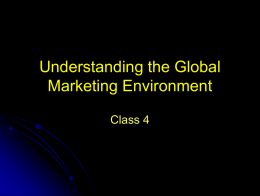 Intro to Global Marketing