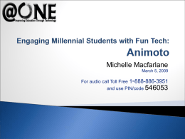 Engaging Millennial Students with Fun Tech: Animoto