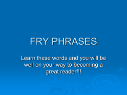 FRY PHRASES - Kidblog Inc.