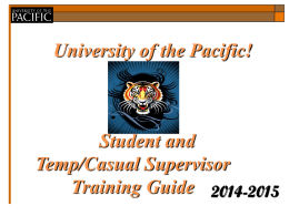 University of the Pacific New Hire Orientation