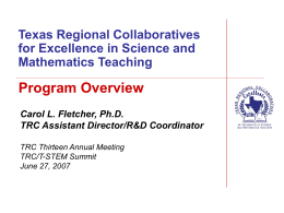 Texas Regional Collaboratives for Excellence in Science