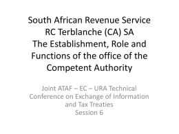 South African Revenue Service RC Terblanche (CA) SA