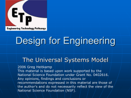 Universal Systems Model PowerPoint - ETP
