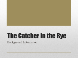The Catcher in the Rye - Mrs. Countess