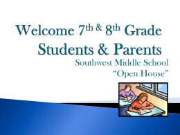 Welcome 6th Grade Students & Parents